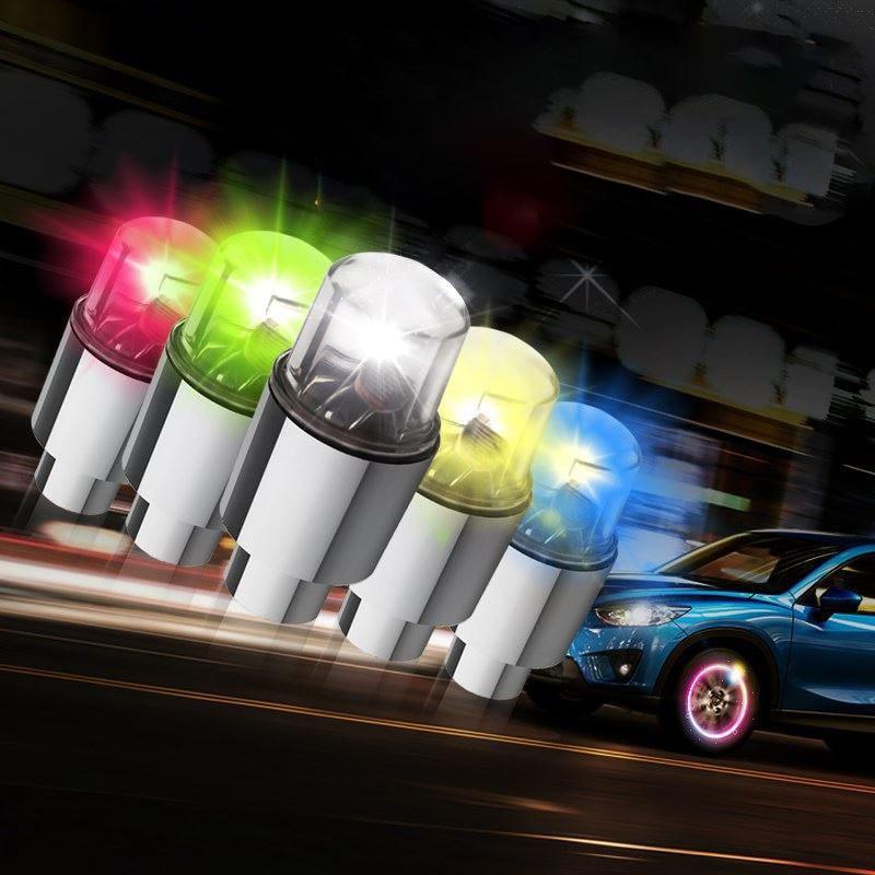 1 sztuk rowerów światła koła lampka na szprychy LED zawór opony nakładki światła wodoodporna lampa neonowa samochodów jazda na rowerze rower akcesoria