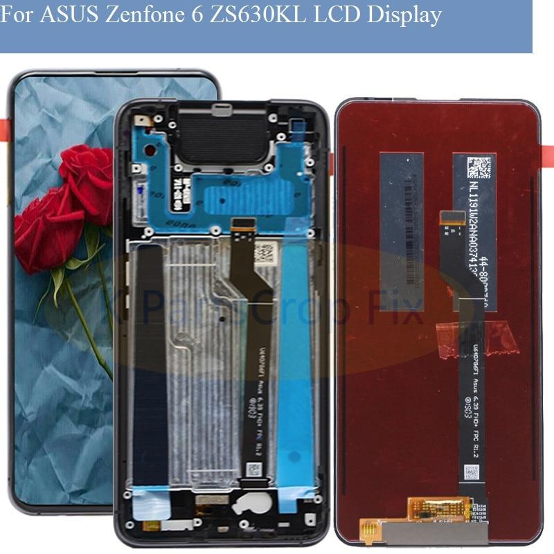 6,4 para ASUS Zenfone 6 ZS630KL LCD pantalla táctil digitalizador Sensor montaje de cristal para Asus Zenfone 6z LCD la pantalla de visualización