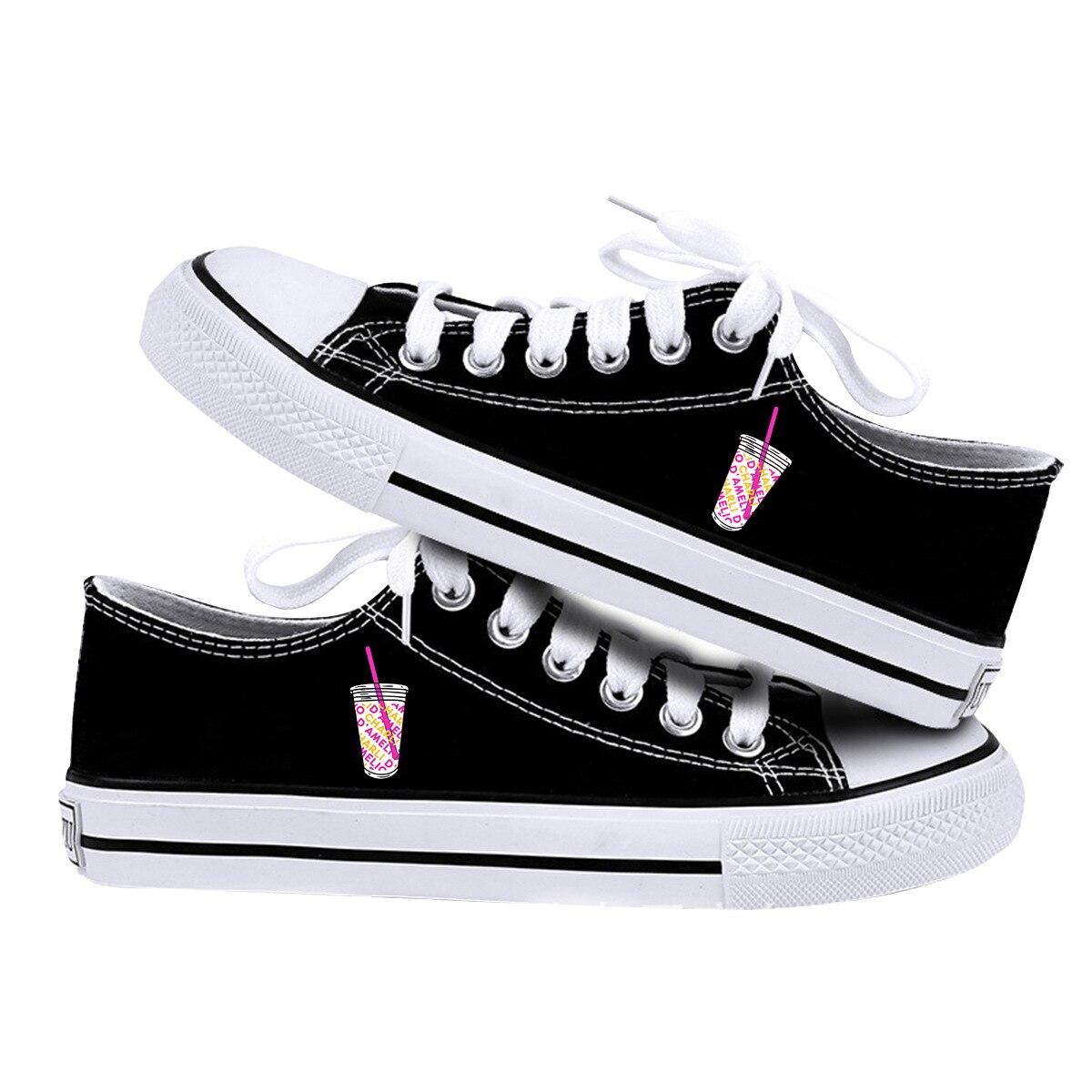 Sapatos de Viagem Nova Chegada Impressão Charli Damelio All-match Tênis Estudante Clássico Lona Moda Sapatos Casuais Plana 2021