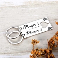 couple keychain player 1 player 2 gamer lover gifts for boyfriend girlfriend husband wife fiance fiancee valentines gifts