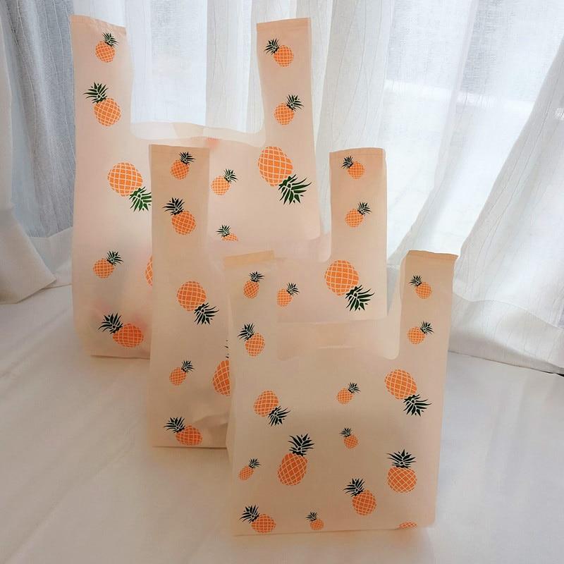 Sac plastique ananas en plastique   Sac à main en plastique pour bonbons de supermarché sac de courses pour fête sac demballage cadeau de mariage