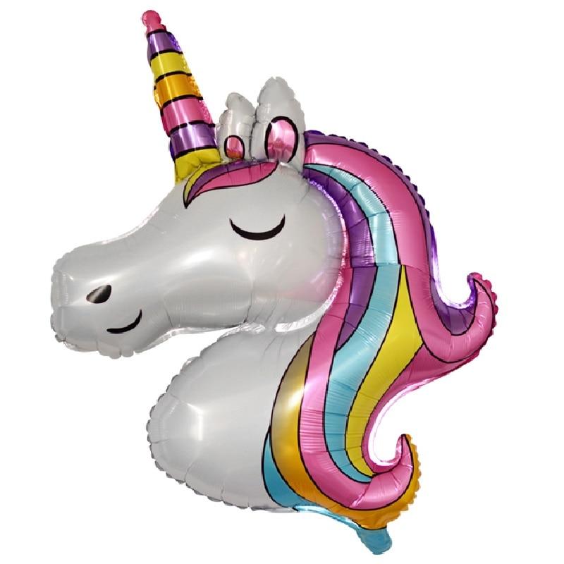 1pc Unicorn Birthday Party Decor Kids Unicorn Party Favor Unicorn Balloons Unicornio Wedding Decorat