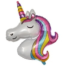 1pc Unicorn Birthday Party Decor Kids Unicorn Party Favor Unicorn Balloons Unicornio Wedding Decorat