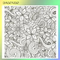 daboxibo exuberant flowers transparent clear stamps for diy scrapbookingcard makingphoto album silicone decorative crafts13x13