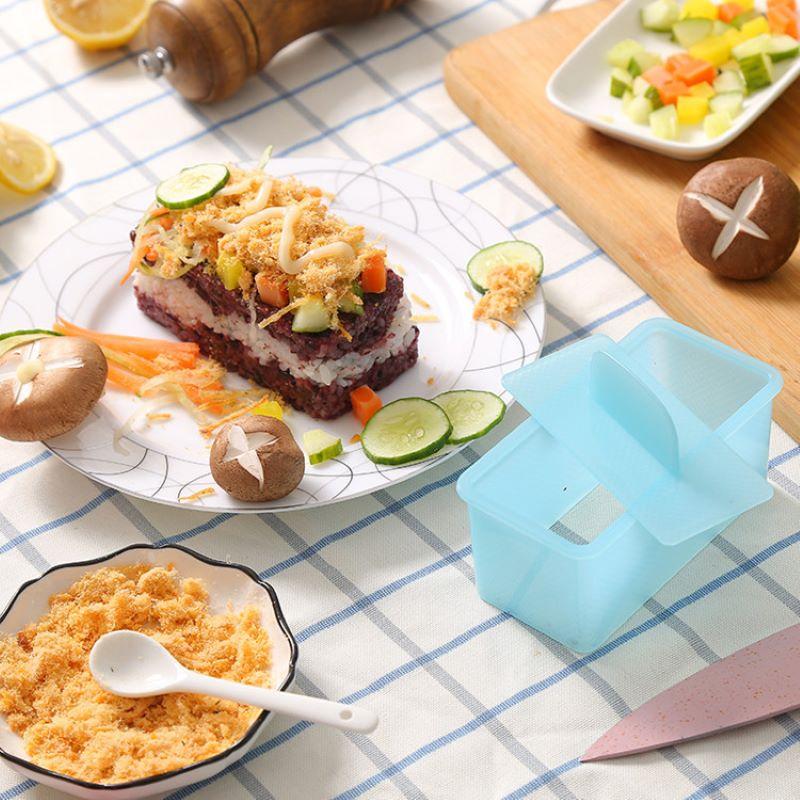 Moule à sushi rectangulaire, créatif, carré, en forme de gâteau, dessert, finition, style, boîte à dessert, cuisine japonaise