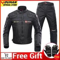 duhan motorcycle jacket waterproof body protective gear motocross removable keep warm liner windproof men moto cycling jacket