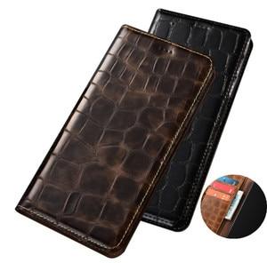 Genuine Leather Wallet Phone Cases Card Pocket For OPPO A59/OPPO A57/OPPO A53/OPPO A52/OPPO A12 Phone Bag Magnetic Flip Cover