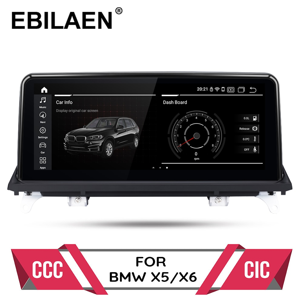 Android 10.0 Car DVD Player for BMW X5 E70/X6 E71 (2007-2013) CCC/CIC System Autoradio GPS Navigation Multimedia Head Unit PC