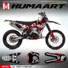 HUMAART Off-road Sticker MX Graphics Kit Vehicle Wraps for Gas Gas EC 125 200 250 300 2T 450 4T 250F 300F 450F 2011 2012 2013