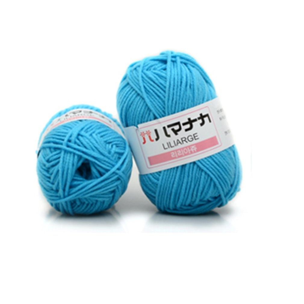 Hermoso 31 colorido suave bebé caliente leche algodón hilo fibra hilo de terciopelo tejer ganchillo de lana a mano hilo DIY suéter
