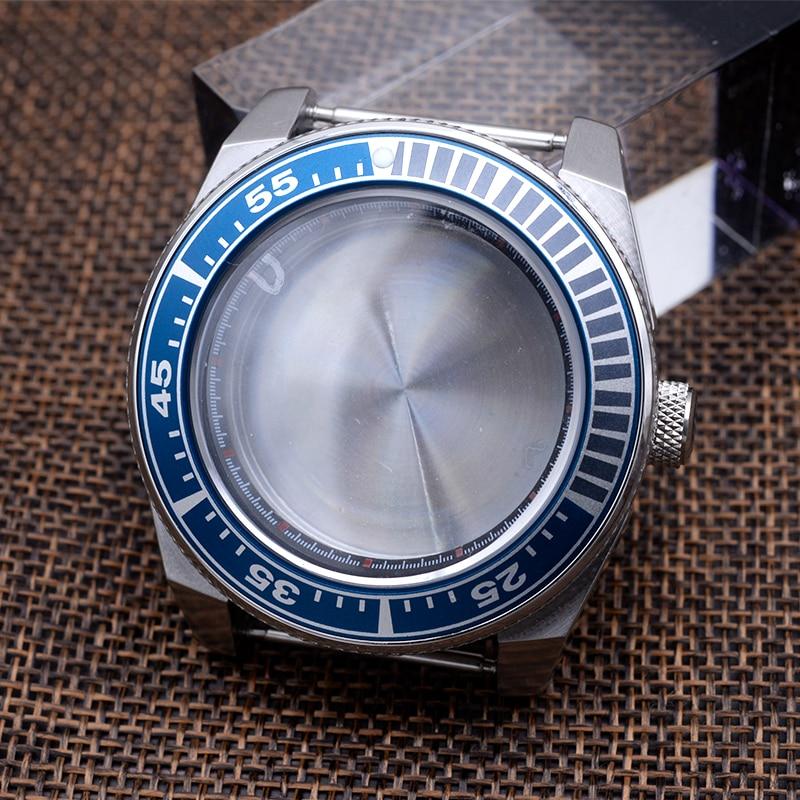 Watch case nh35 nh36 case Samurai case For Seiko PROSPEX Black King Samurai SRPH Fit 4R35 4R36 NH35 NH36 Movement Sapphire Glass