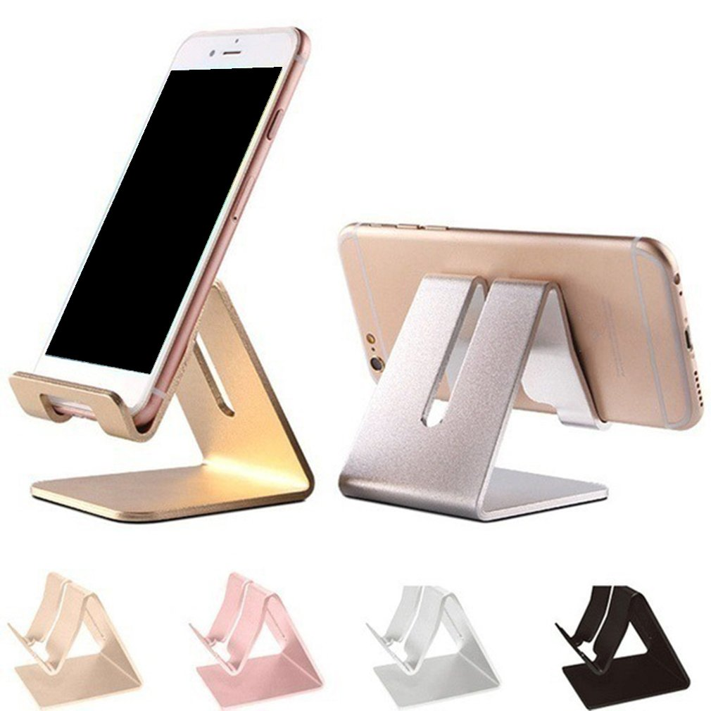 Soporte de teléfono giratorio de aleación de aluminio para iphone X para Tablet Samsung soporte de montaje soporte de mesa ajustable