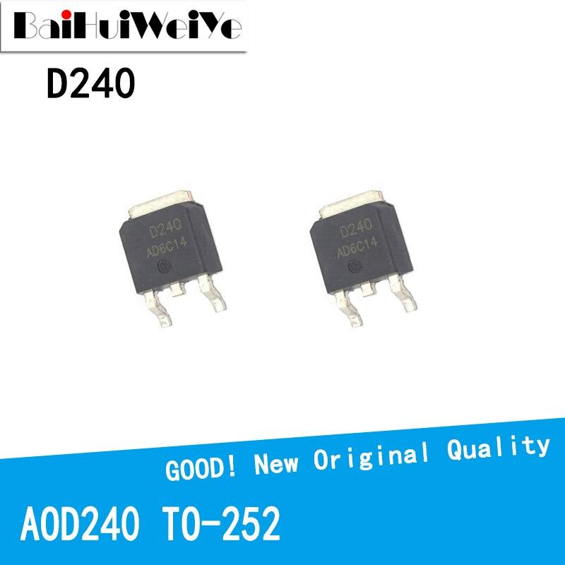 10PCS/LOT AOD240 D240 70A 40V TO-252 TO252 MOS FET New and Original IC Chipset MOSFET-N new original 30pcs lot 78m05 to252 7805 750ma