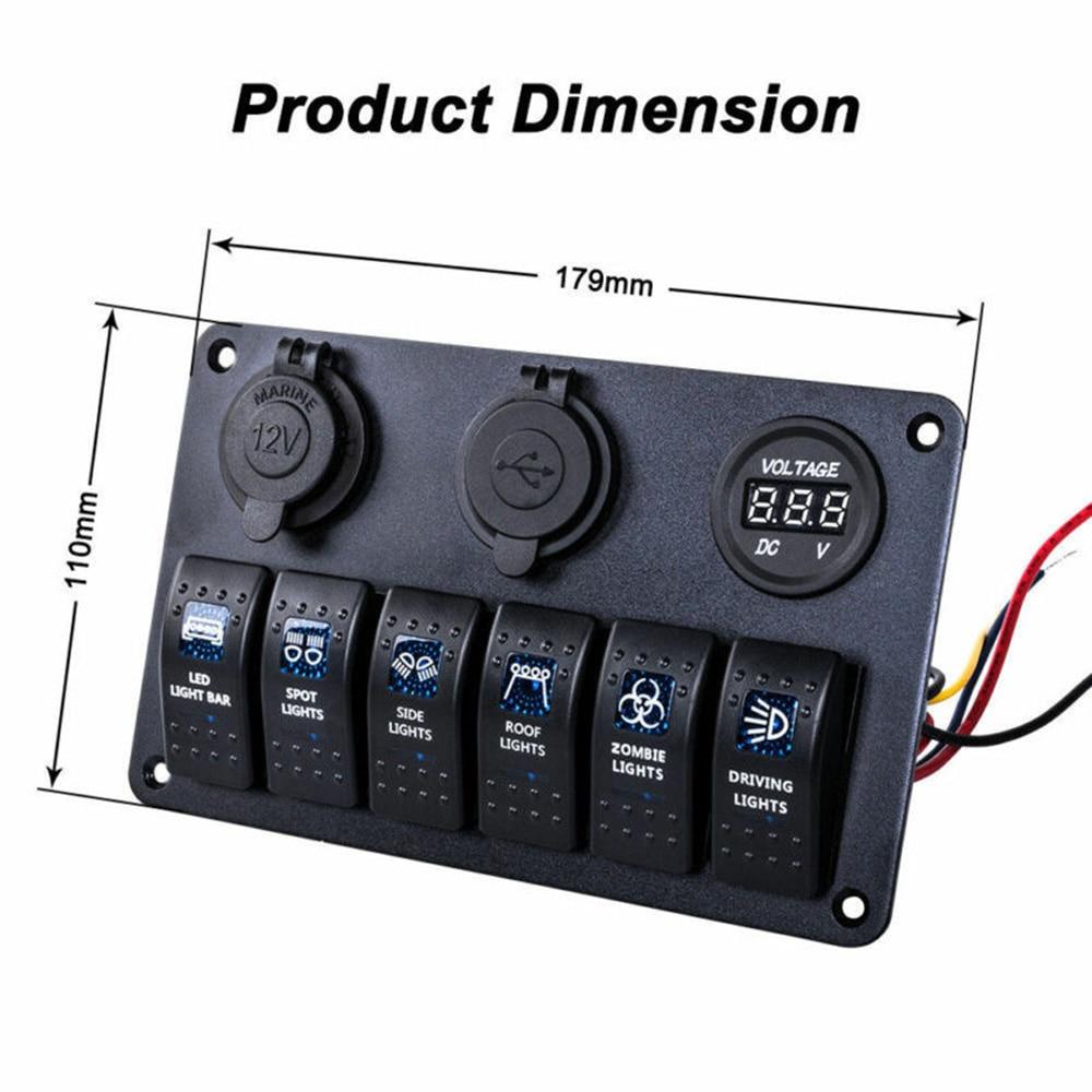Interruptor de palanca ON-OFF para coche SUV camión marino Camper pre-cableado IP68 reemplazo
