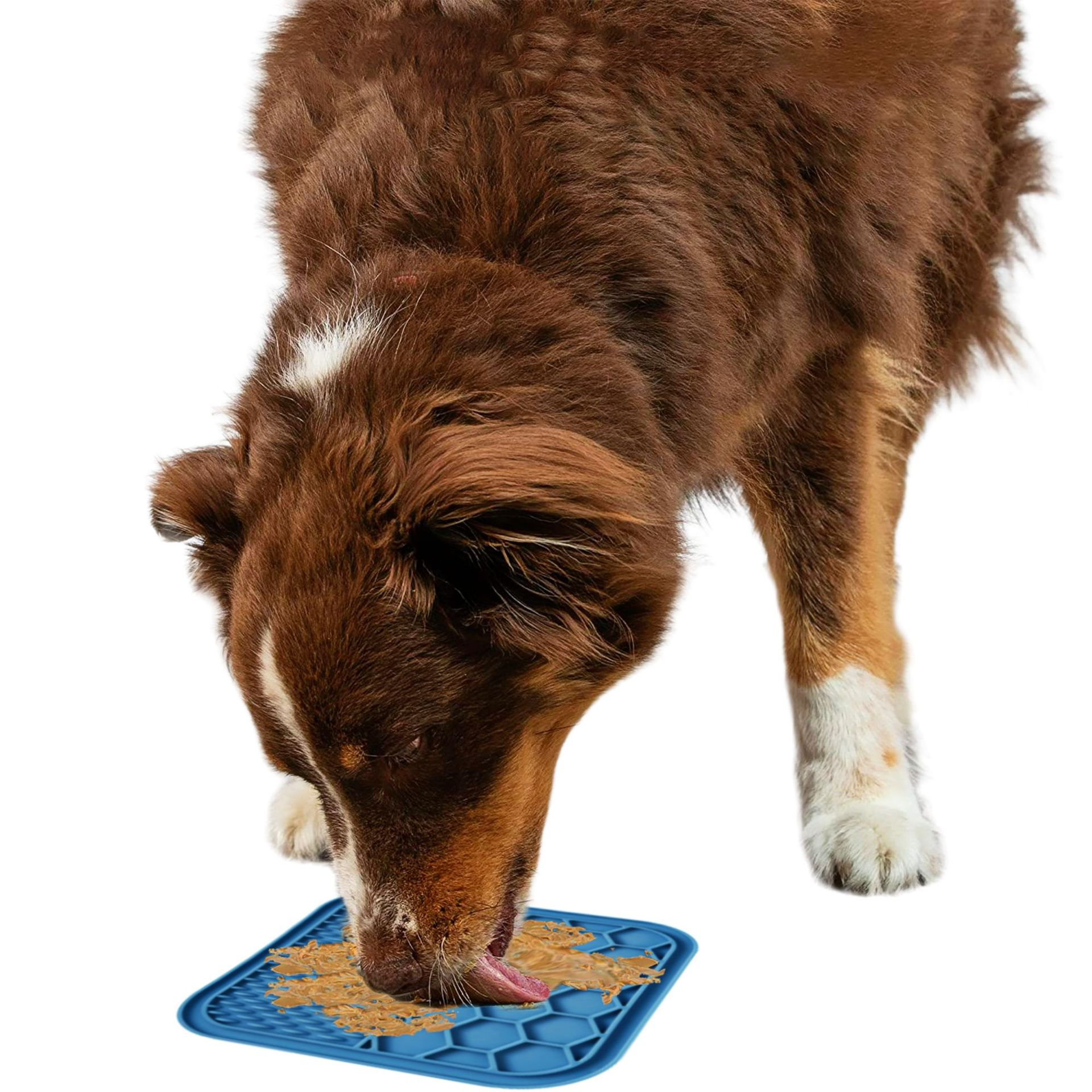 Pet Lick Pad Slower Feeder Pad Cats Dog Licky Mat Feeding Cats Dogs Licking Mat Pet Bathing Distraction Pads Silicone Dispenser  - buy with discount