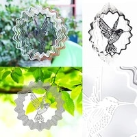 3d metal rotating wind chimes drive birds away wind chimes outdoor garden decoration accessories teen room home decor