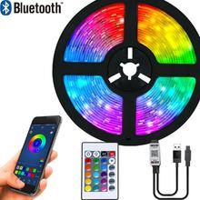 LED Strip Lights Bluetooth Luces Led RGB 5050 SMD 2835 Flexible Tape Diode TV Background Lighting 1M