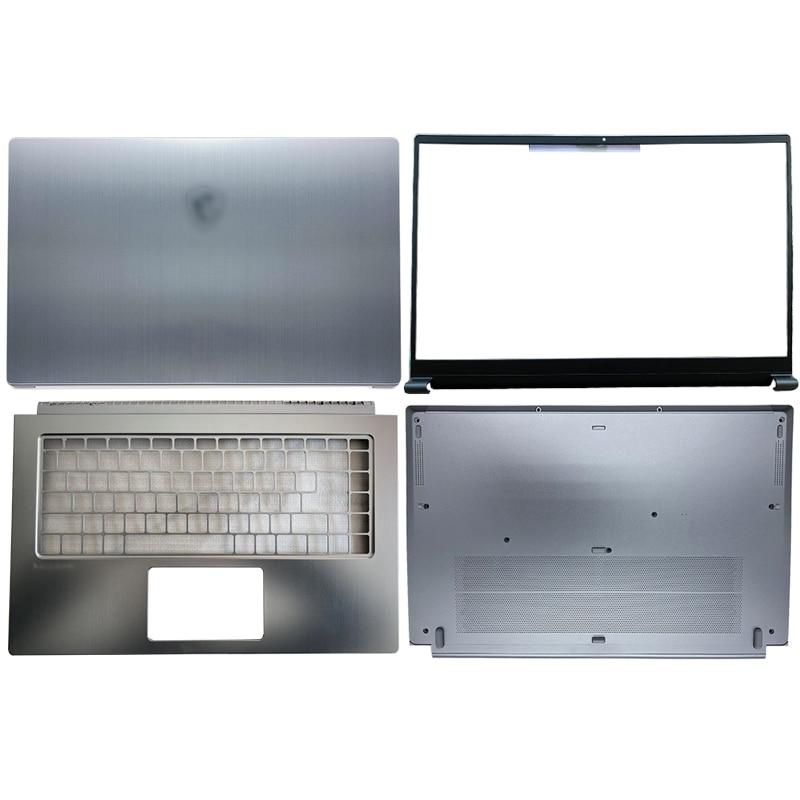 Portátil para Msi Novo Moderno Portátil Lcd Capa Traseira – Moldura Dianteira Palmrest Case Inferior Prata 15 M15 Ms-1551