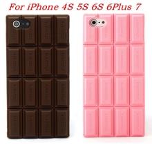 Прекрасная шоколадная 3D мягкая силиконовая резиновая задняя крышка, чехол для iPhone 7 6 6s Plus 5 5s 4 4s, телефонные чехлы для iPhone 6 7