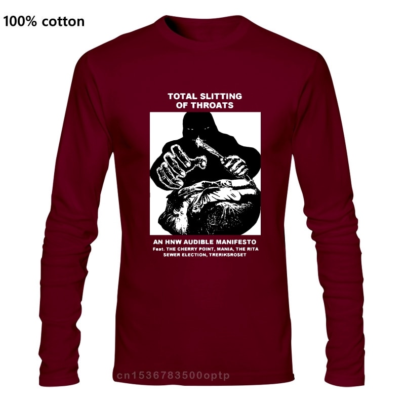 Total Slitting Of Throats T Shirt The Cherry Point Mania Treriksroset The Rita Sewer Election HNW Noise Power Electronics