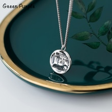 925 Silver 17MM Coin Necklace Punk Jewelry Silver Hammered Pendants Chocker Boho Kolye Vintage Bijoux Femme Collier Necklace