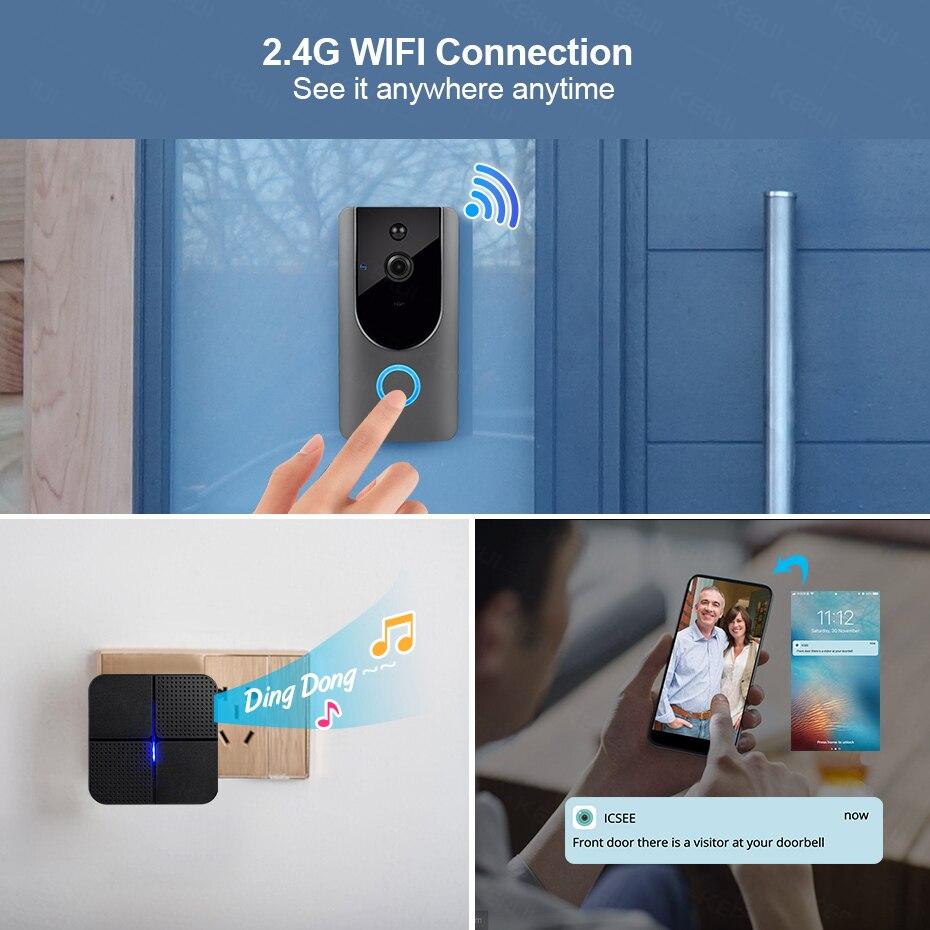 WiFi Doorbell Camera Outdoor Wireless Video Doorbell Two-way Audio Visible Intercom System Night Vision Door Phone deurbel enlarge