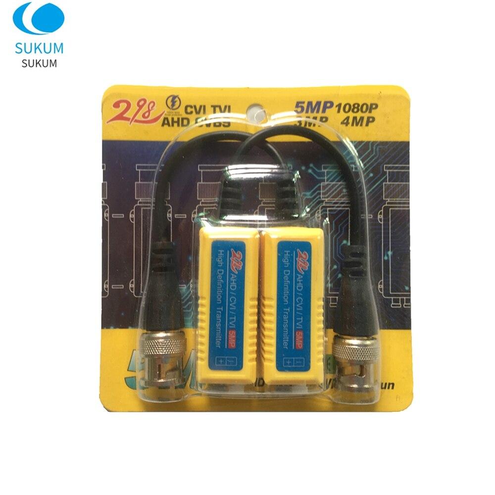 10 пар 5MP CCTV пассивный видео Balun BNC передатчик с витой парой CCTV аксессуары для AHD/CVI/TVI камер