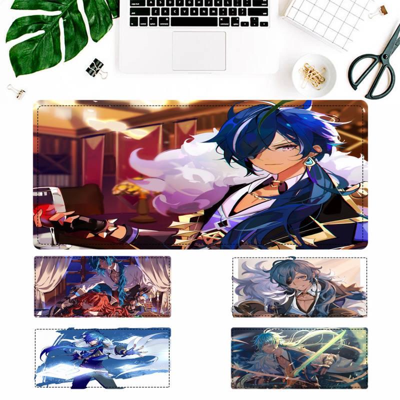 Симпатичный коврик для мыши Genshin Kaeya, игровой коврик для клавиатуры, Настольный коврик для мыши, игровые аксессуары для Overwatch