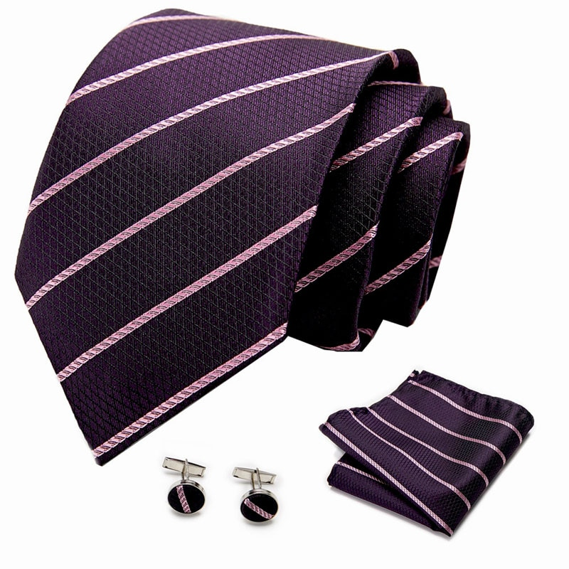 mens ties silk tie slim business wedding necktie blue ties men polka dot ties for men gravata 8cm men shirt accessories 35colors Mens Tie Luxury Polka dot Silk Jacquard Necktie Hanky Cufflinks Set Business Wedding Ties For Men Gravata