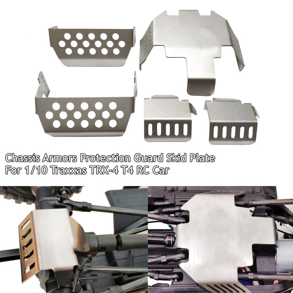 Armazones de chasis protector Placa de Skids para 1/10 Traxxas TRX-4 T4 RC Coche
