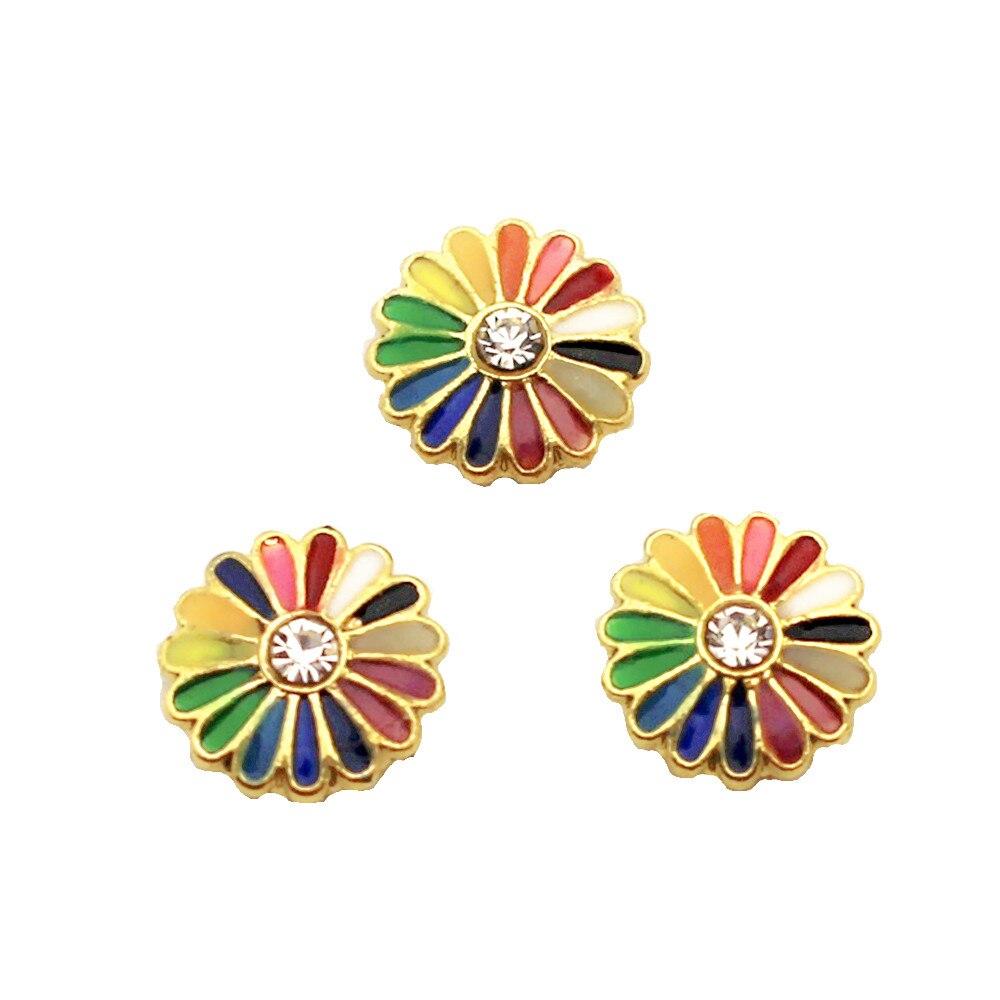 Mais novo liga de cristal daisy encantos medalhão flutuante encantos para a memória de vidro vivendo pingente de medalhão flutuante