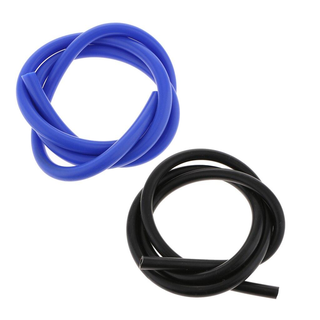 Tubo de aspiración de silicona de 8mm manguera tubería de silicona 1,5 M/5 pies negro + azul