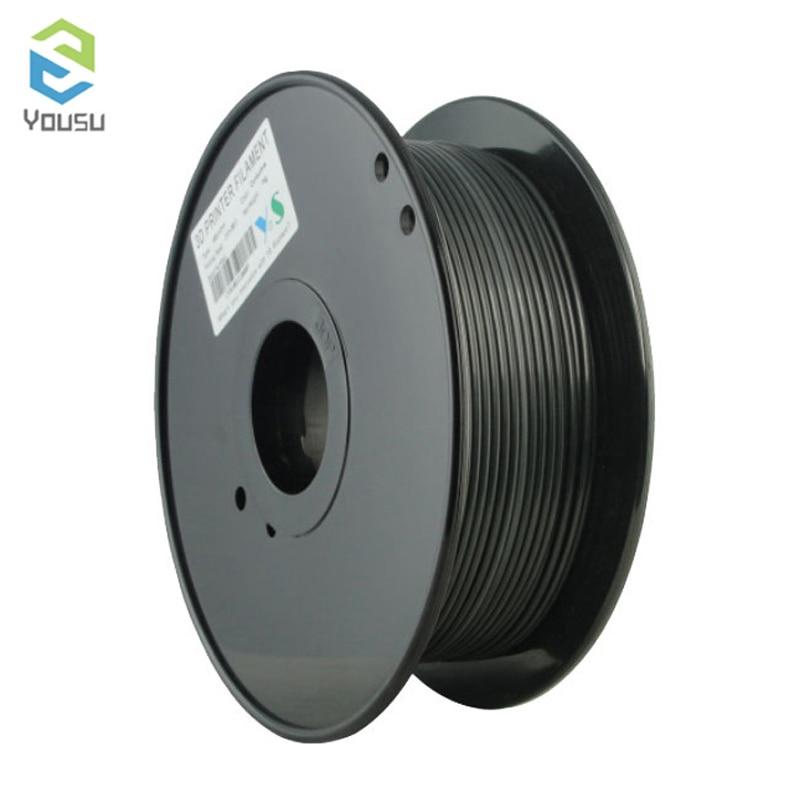 Nylon Yousu Premium 3D Printer Filament 1.75 1KG TPLA TABS Carbon Fiber TPU Nylon/PA Metal HIPS 3D Plastic Filament
