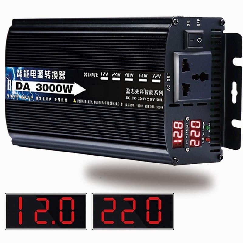 Inverter 12v/24v To AC 220v 50HZ 1500w 1600w 2200w 3000w Voltage transformer Power Converter Solar For Car Inverter Househol DIY