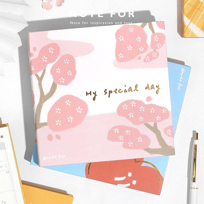 Kawaii милый кубик девушка Сакура женский дневник ежедневник карманный блокнот планировщик еженедельная Книга Путешествия Школьные принадле...
