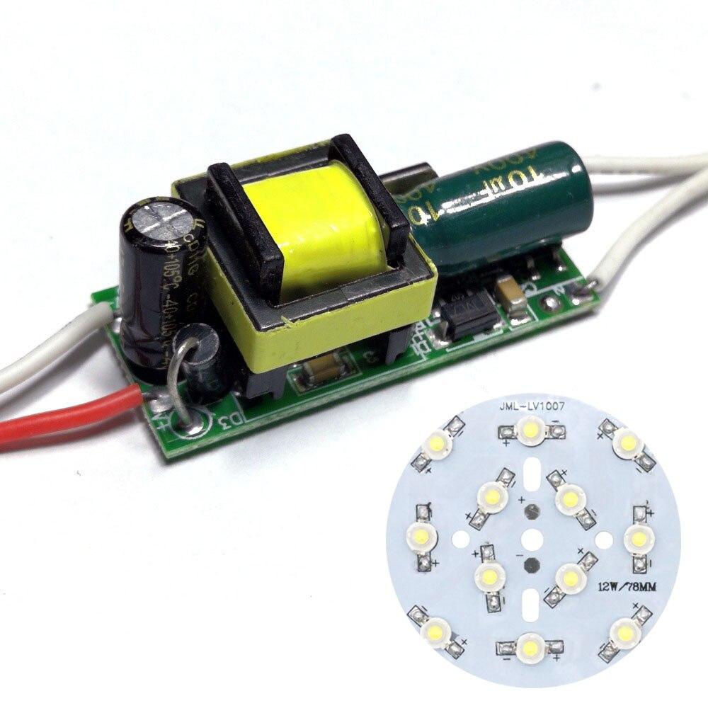 10W LED diodos COB SMD bombilla a bordo con controlador LED AC90-265V para foco de luz LED Downlight lámparas para reparación DIY