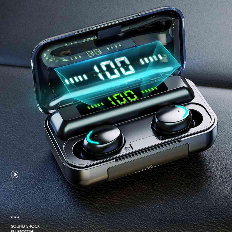 Wireless Bluetooth TWS Earbuds 2200mAh Charging Case Sports Waterproof Bluetooth Earphones Wireless