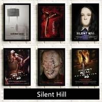 Horreur affiche silencieux colline decor a la maison peinture classique fantome effrayant film mur Art Home cinema Club decor imprime pas de cadre