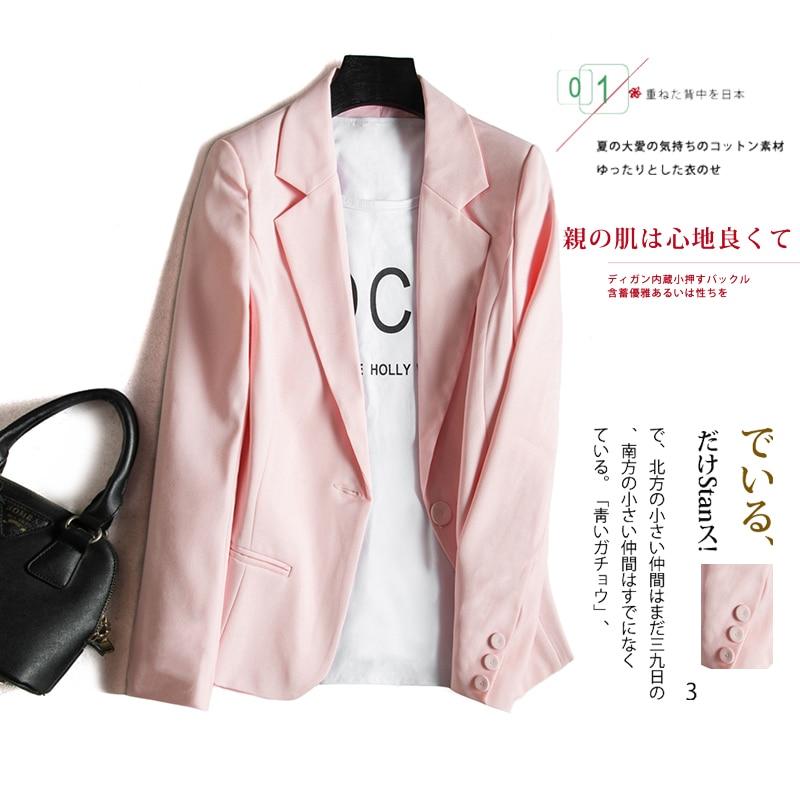 2020 automne mode rose femmes costume manteau mince à manches longues crantée bureau dame femmes Blazers et vestes Blaizer Feminino
