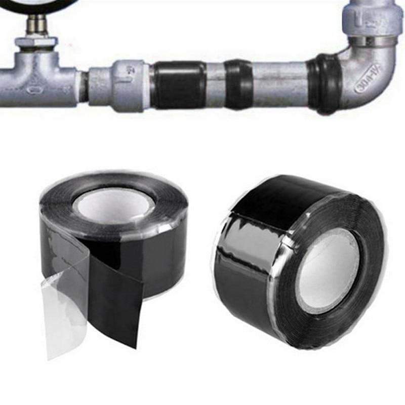 1 roll waterproof adhesive sealing tape black repair tape household water pipe repair tape strong pipe seal repair tool