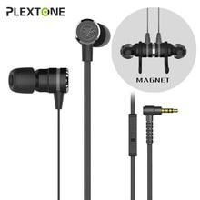 PLEXTONE G20 Gaming Kopfhörer mit Mikrofon Magnetische In-ohr Headset Stereo Bass Ohrhörer für Telefon Sport pk hammerhead pro v2