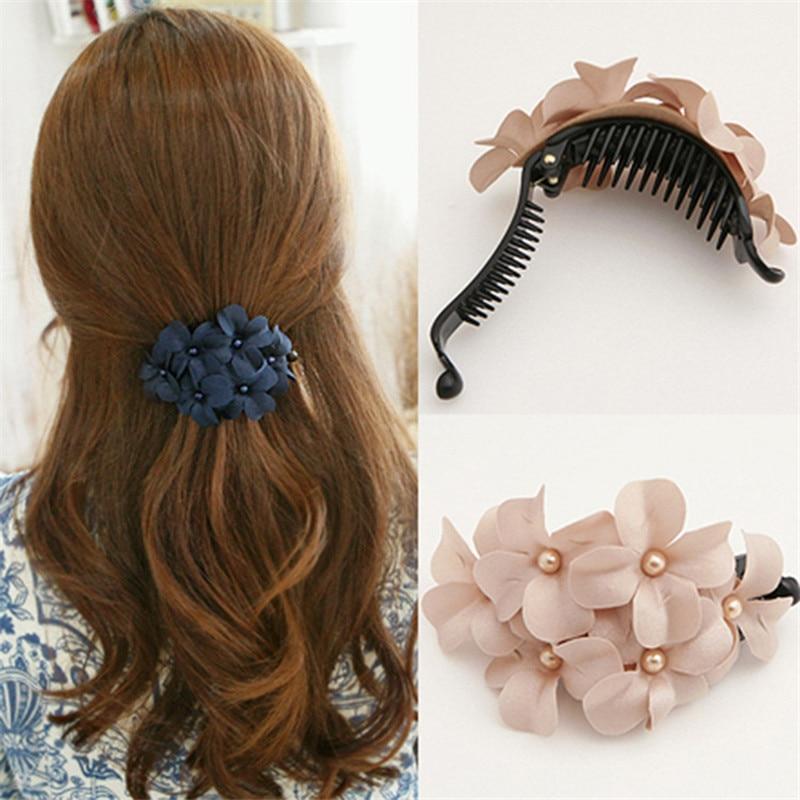 1 Uds., venta al por mayor, horquillas con pasador de flores para niñas, pinzas para el pelo, accesorios para el pelo para mujeres, adorno de novia para el pelo