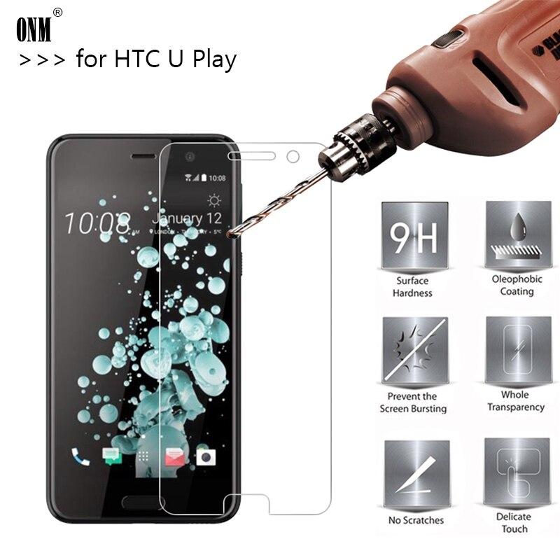 Vidrio Templado Premium 2,5d 0,26mm 9H para HTC U Play, película protectora de pantalla de 5,2 pulgadas, película protectora endurecida para HTC U Play Glass