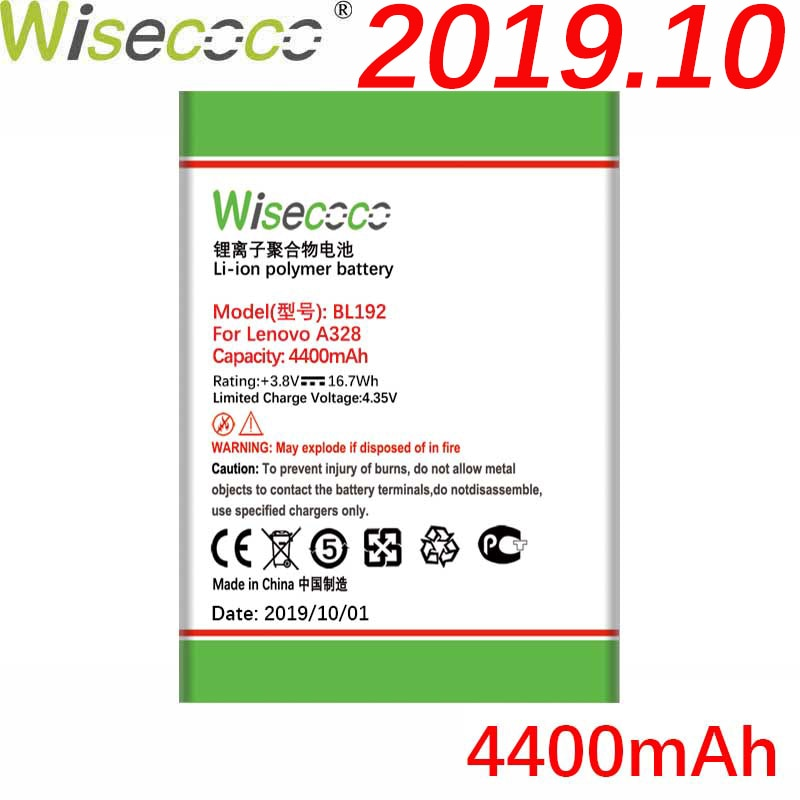 WISECOCO 4400 мАч BL192 батарея для Lenovo A300 A750 A328 A328T A526 A388T A529 A680 A590 A560 A505E смартфон + номер отслеживания