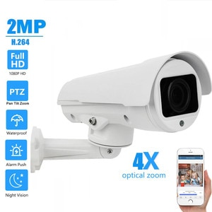 Full HD 1080P 4MP Waterproof Outdoor Metal Wired IP Camera PTZ 4X 10X Zoom Home Network Security Surveillance CCTV Camera P2P