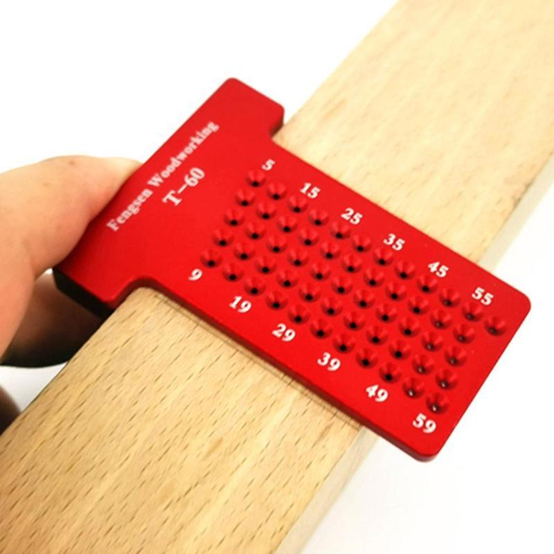 Tabla de carpintería tipo T T60 regla de calibre de aleación de aluminio Escala de precisión y resistente al desgaste