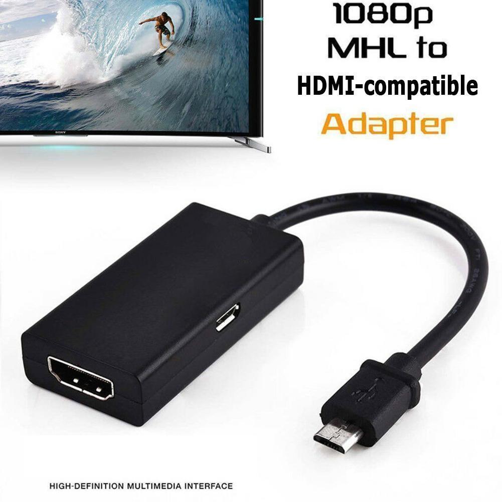Micro USB 2,0 adaptador MHL a HDMI compatible con Cable HD 1080P...