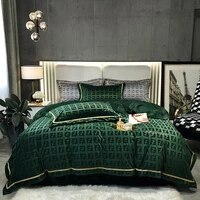 warm winter bedding set luxury coral velvet bed linen euro solid duvet cover 220x240 bedspread double quilt