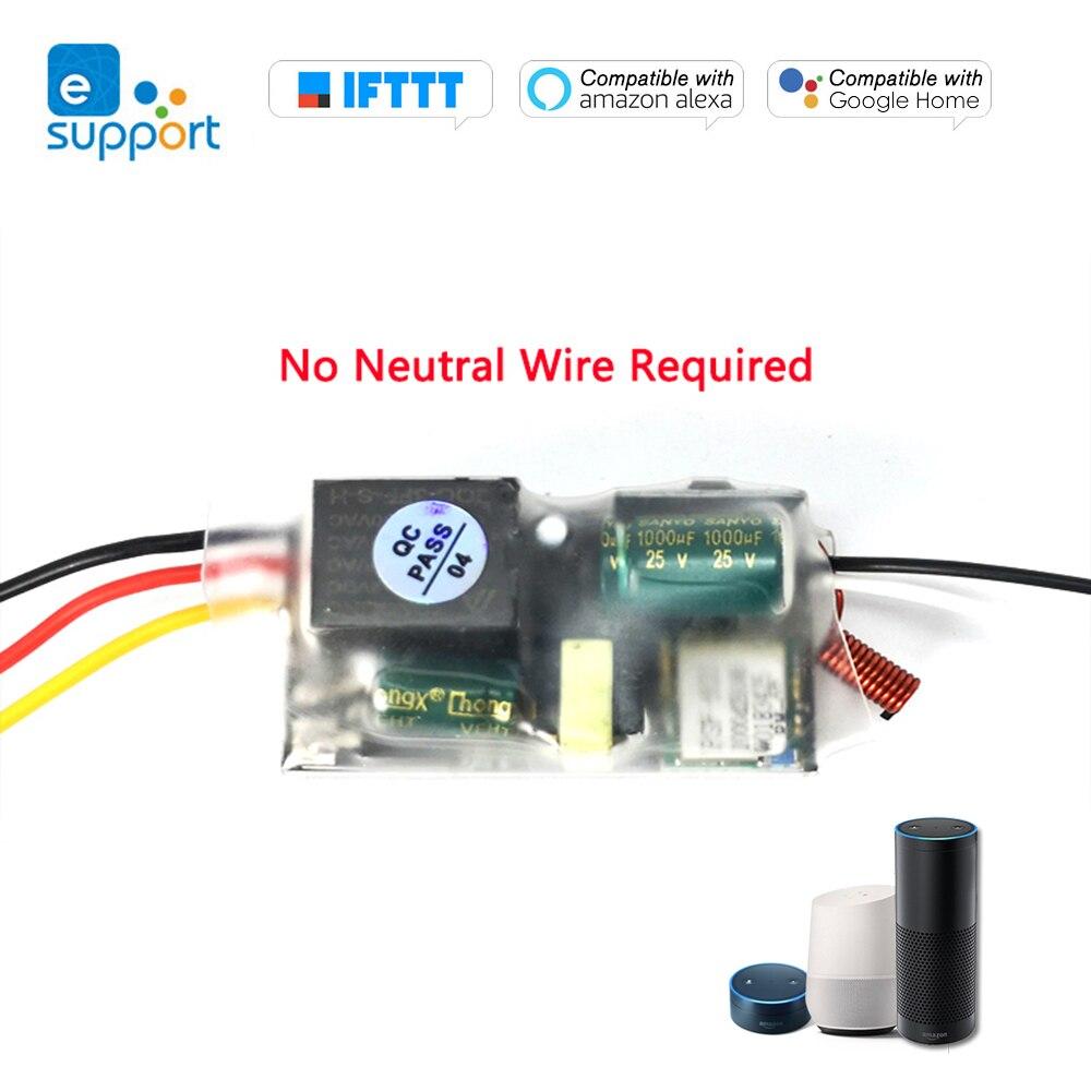 EWelink solo Cable WIFI 220-240V Wifi interruptor RF 433MHz interruptor inalámbrico Control remoto APP Control para Alexa & Google Home