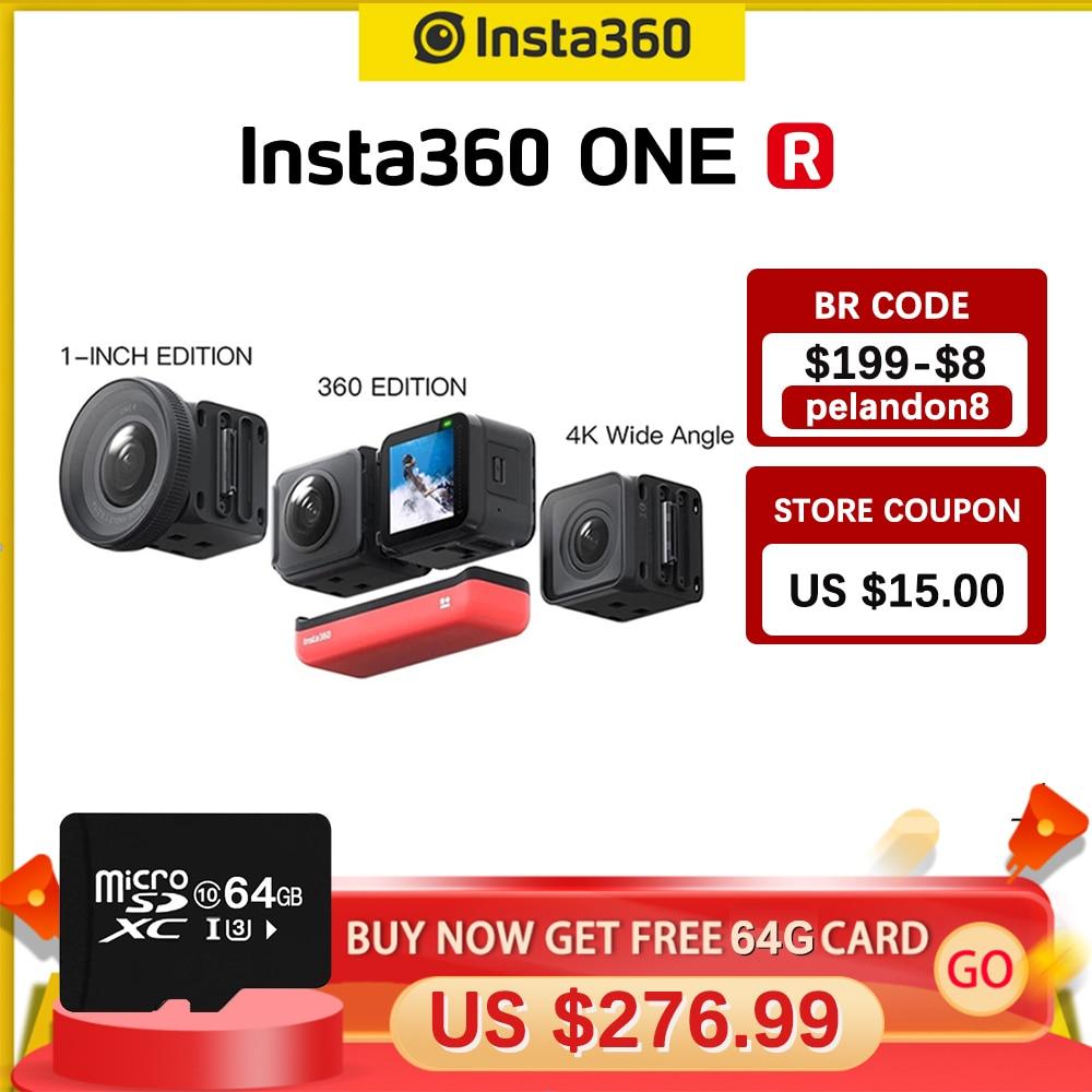 Insta360 ONE R Insta 360 4K 5.7K عمل الكاميرا التوأم الطبعة/360 الطبعة/1 بوصة الطبعة مقاوم للماء مثل Gopro